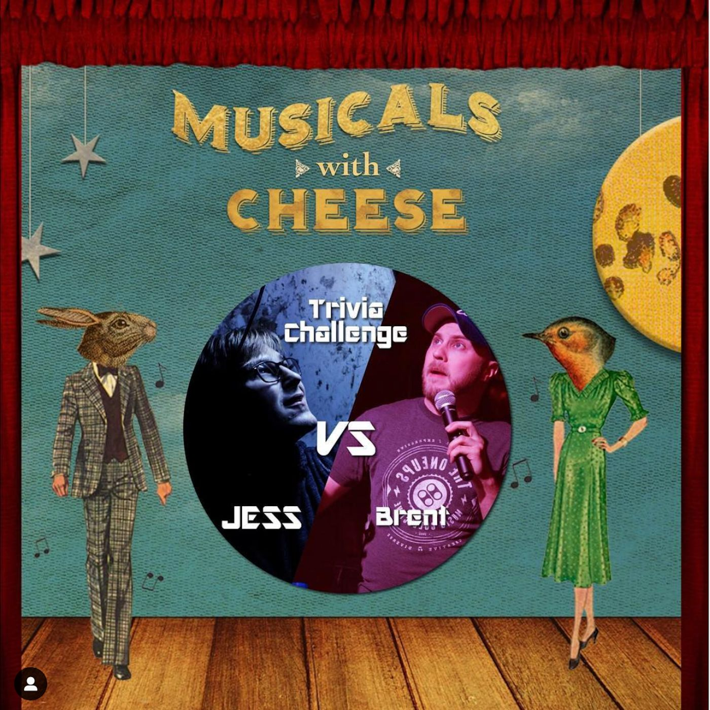 Musicals With Cheese #12 – Trivia Challenge (Jess V. Brent Black aka Brentalfloss)