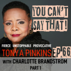 You Can't Say That Tonya Pinkins - Ep66 - Charlotte Brandstrom (Part 1)