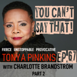 You Can't Say That Tonya Pinkins - Ep67 - Charlotte Brandstrom (Part 2)