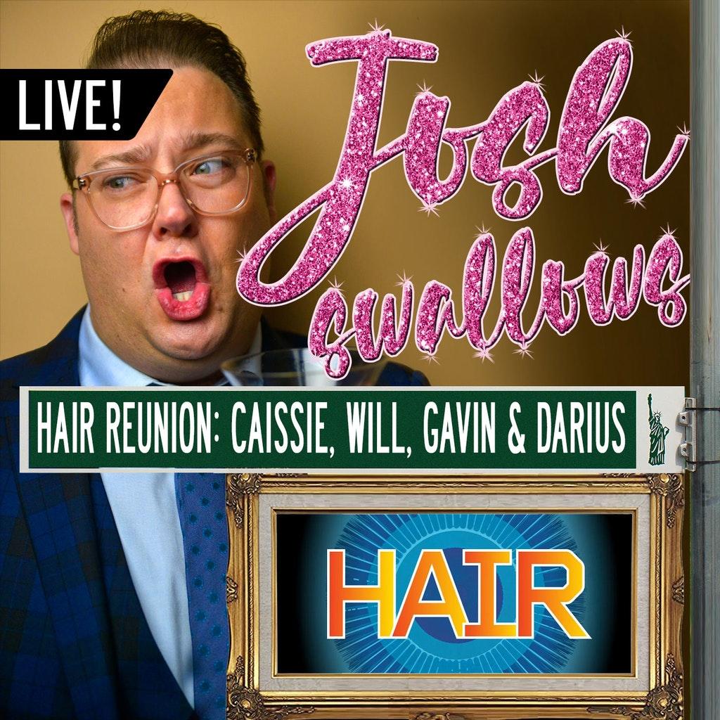 Josh Swallows Broadway - Ep33 - LIVE: HAIR - Caissie Levy, Gavin Creel, Will Swenson & Darius Nichols