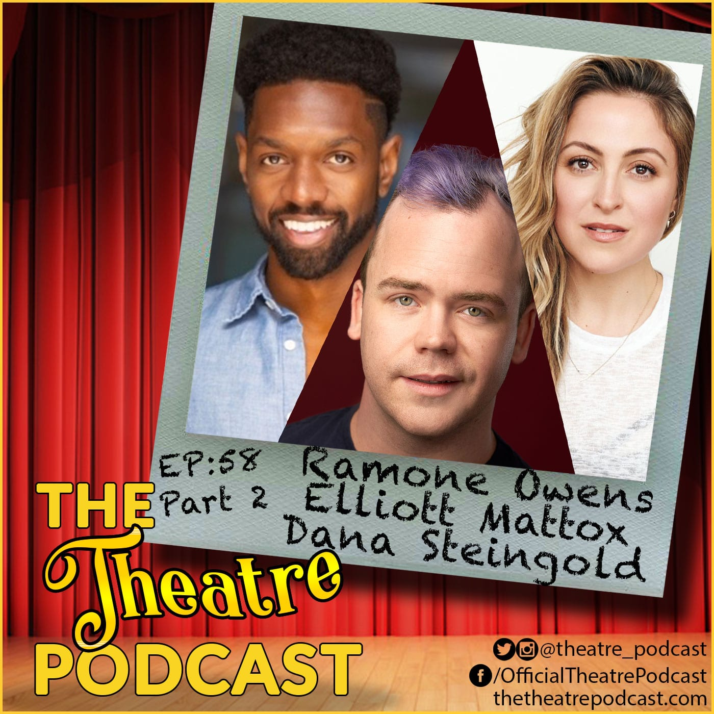 The Theatre Podcast Ep58 - Elliot Mattox, Dana Steingold, Ramone Onens of the Beelejuice Ensemble (Part 2)