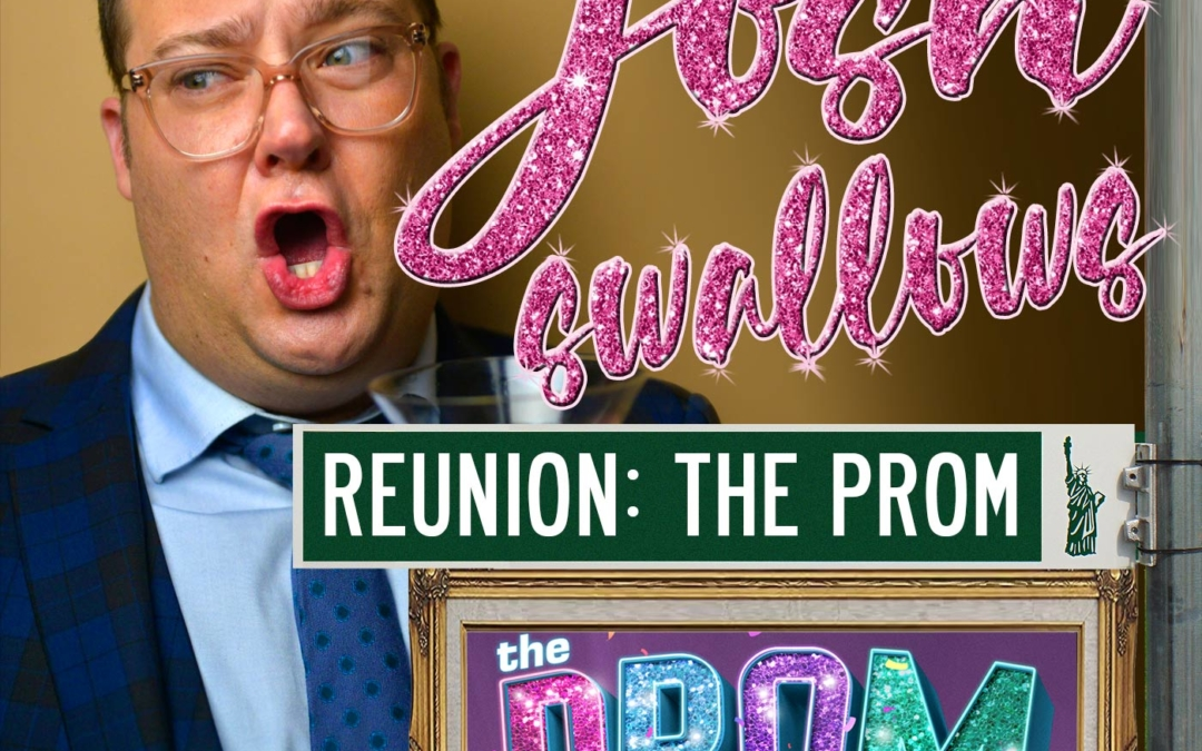 "Ep17 – ""The Prom"" reunion: Beth Leavel, Brooks Ashmanskas, Christopher Sieber, Caitlin Kinnunen, Isabelle (Izzy) McCalla, Angie Schworer and Michael Potts"