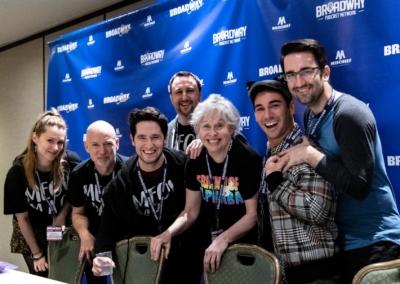 BroadwayCon 2020, Tommy Bracco, Nancy Opel, Michael Kushner, Alan Seales